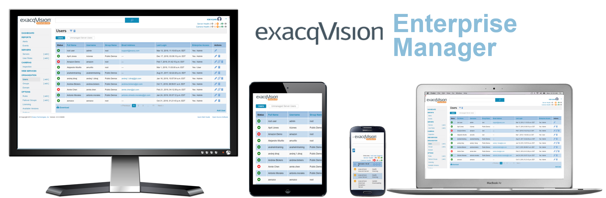 exacqVision Enterprise Video Management System Software